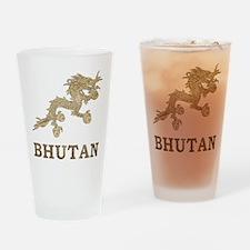 Vintage Bhutan Pint Glass