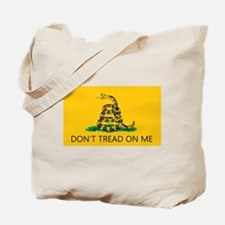 Don't Tread On Me (Gadsden Flag) Tote Bag