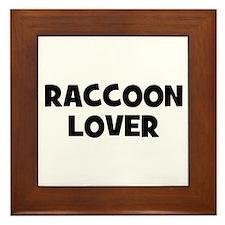 Raccoon Lover Framed Tile