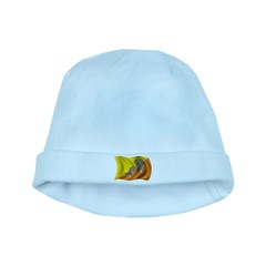 Wavy Bhutan Flag baby hat
