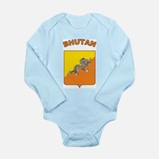 Bhutan Long Sleeve Infant Bodysuit