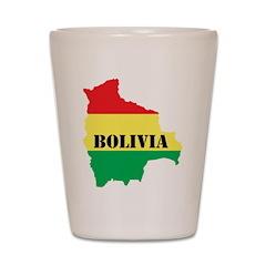Map Of Bolivia Shot Glass
