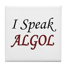 """I Speak ALGOL"" Tile Coaster"