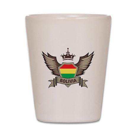 Bolivia Emblem Shot Glass
