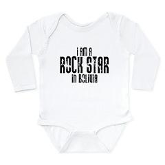 Rock Star In Bolivia Long Sleeve Infant Bodysuit