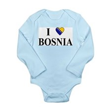 I Love Bosnia Long Sleeve Infant Bodysuit