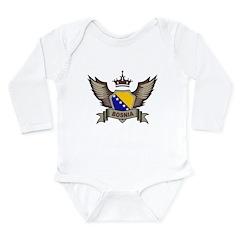 Bosnia Emblem Long Sleeve Infant Bodysuit