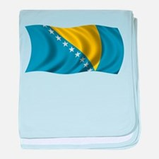 Wavy Bosnia Flag baby blanket