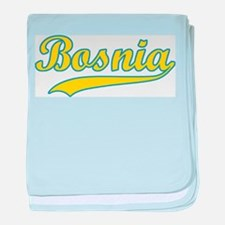 Retro Bosnia baby blanket