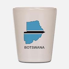 Map Of Botswana Shot Glass