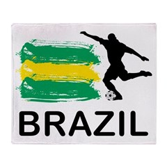 Brazil Football Throw Blanket