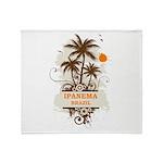 Ipanema Brazil Throw Blanket