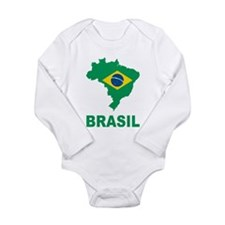 Brazil Long Sleeve Infant Bodysuit