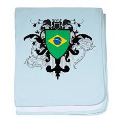 Stylish Brazil baby blanket
