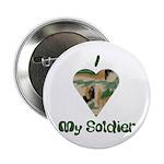 I Love My Soldier Button
