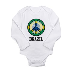 Peace In Brazil Long Sleeve Infant Bodysuit