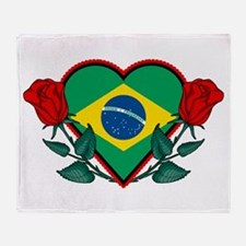 Love Brazil Throw Blanket