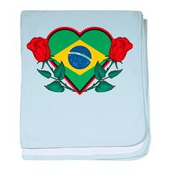 Love Brazil baby blanket