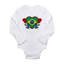 Love Brazil Long Sleeve Infant Bodysuit