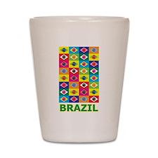 Pop Art Brazil Shot Glass