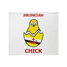Bruneian Chick Throw Blanket