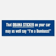 Obama Does This Ass Make My Car Look Big Bumper Stickers ...