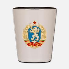 Bulgaria Coat Of Arms 1971 Shot Glass