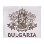 Vintage Bulgaria Throw Blanket