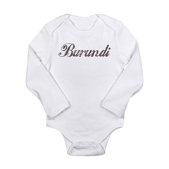 Vintage Burundi Long Sleeve Infant Bodysuit