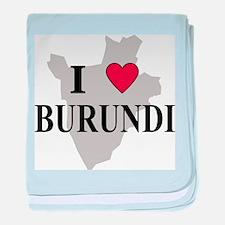 I Love Burundi baby blanket