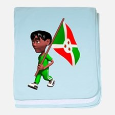3D Burundi baby blanket