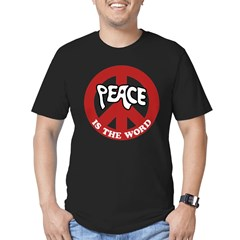 Peace is the word Men's Fitted T-Shirt (dark)