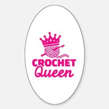 Funny Knitting queen Sticker (Oval)