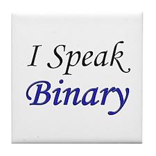 """I Speak Binary"" Tile Coaster"
