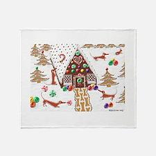 Gingerbread Dachshunds Throw Blanket
