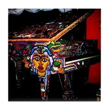 """Voodoo Piano #4"" Tile Coaster"