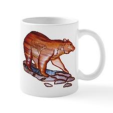 BEAR HUNTING_Mahoganey bear/clay background- Mug