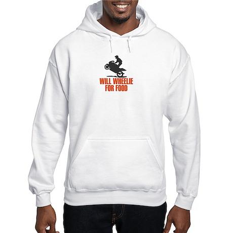 Will Wheelie For Food Hooded Sweatshirt
