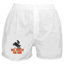 Will Wheelie For Food Boxer Shorts