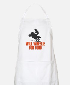 Will Wheelie For Food BBQ Apron