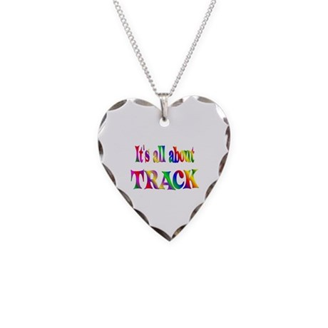 About Track Necklace Heart Charm
