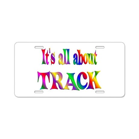 about track aluminum license plate by giftsforeveryone. Black Bedroom Furniture Sets. Home Design Ideas