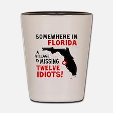 12 Idiots Shot Glass