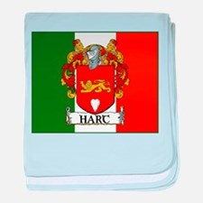 Hart Arms Flag baby blanket