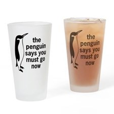 The Penguin Says Pint Glass