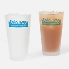 Personalizable Twitter Follow Pint Glass