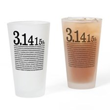 3.1415926 Pi Drinking Glass