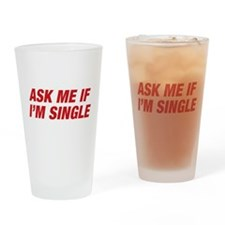 Ask Me Pint Glass