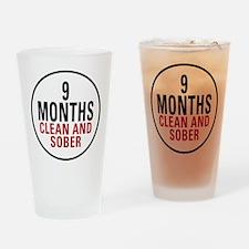 9 Months Clean & Sober Pint Glass