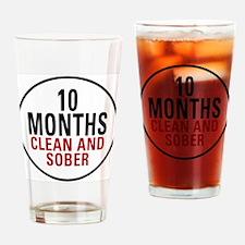 10 Months Clean & Sober Pint Glass